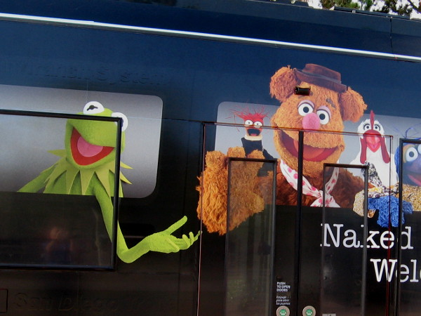Who attending Comic-Con wouldn't love to have Kermit driving them on the San Diego trolley?