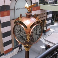 The elegant, historic 1907 Jessop's Street Clock.