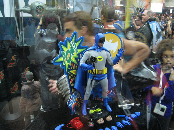 Pop culture fans at Preview Night were checking out an old school Batman. Pow!