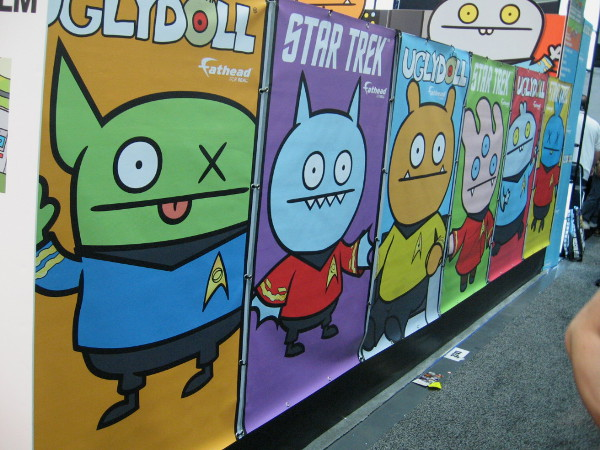Star Trek Ugly Dolls graphics at Preview Night in the San Diego Convention Center.