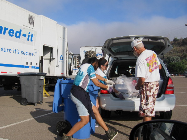 San Diego County Credit Union and Shred-it team up to attempt a new world record for paper collection and shredding!