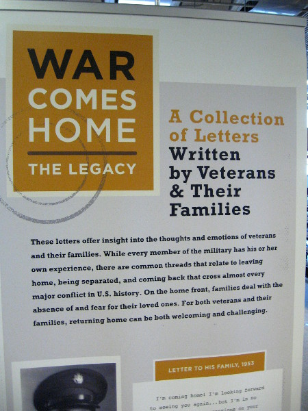 War Comes Home: The Legacy. A collection of letters written by veterans and their families.