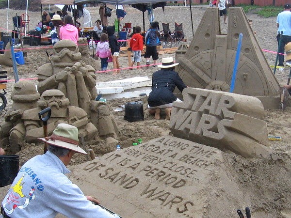 A long time ago at a beach very very close...it is a period of sand wars. Cool Star Wars sand sculpture at the Imperial Beach Sun and Sea Festival!