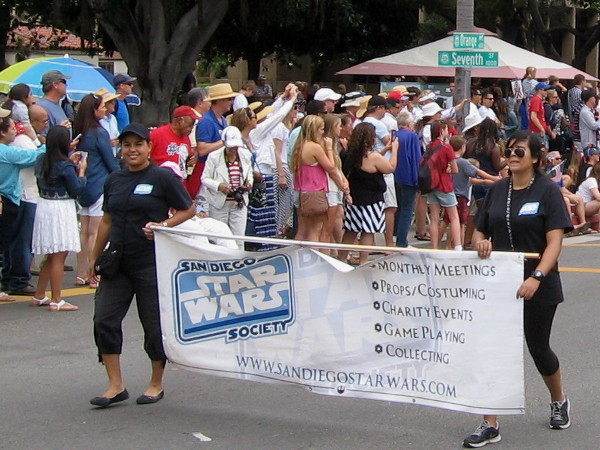San Diego Stars Wars Society members engage in elaborate cosplay for Coronado's Fourth of July parade!