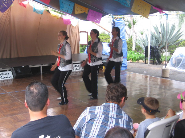 Young people provide free family entertainment for the public at the 2015 Festival of the Bells.