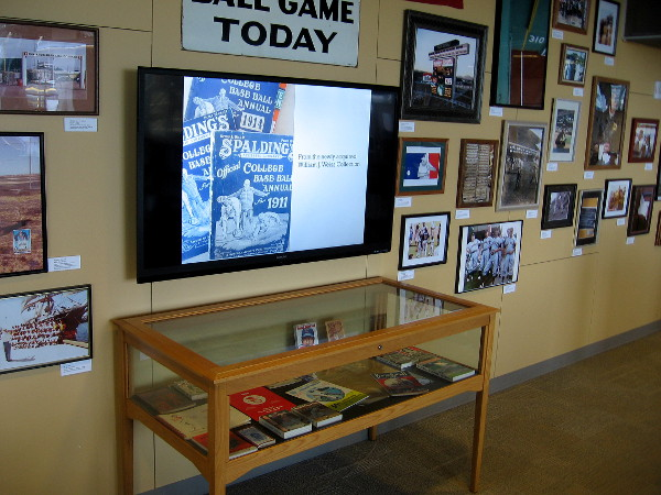 The collection includes many books, periodicals and artifacts concerning the great sport of baseball.