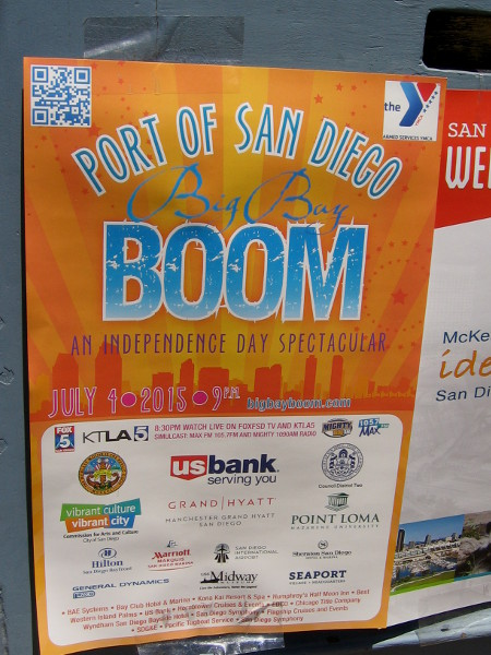 Port of San Diego's Big Bay Boom, an Independence Day Spectacular, will take place at 9 o'clock July 4. Several barges on the bay will launch synchronized fireworks.
