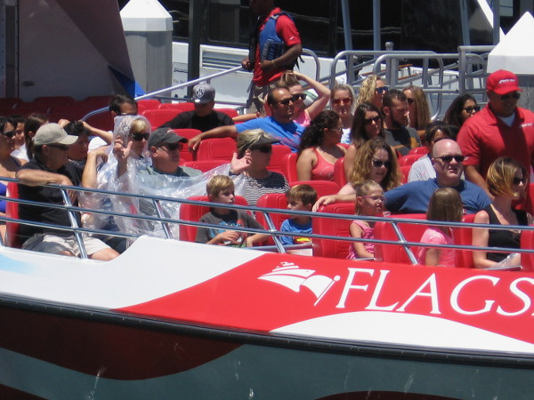 Flagship's Patriot speed boat is ready to take folks on a thrill ride! Get ready to be splashed!