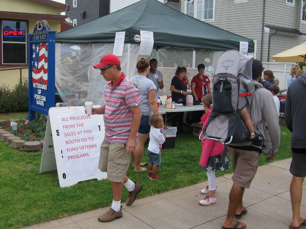 Tent in front of the Veterans of Foreign Wars on Orange Avenue was raising money selling parade-worthy treats.
