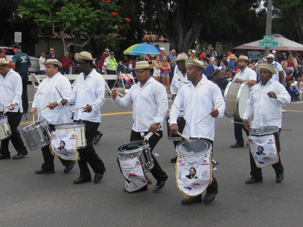 These guys are the Emilio Wallace Panamanian Marching Band of California!