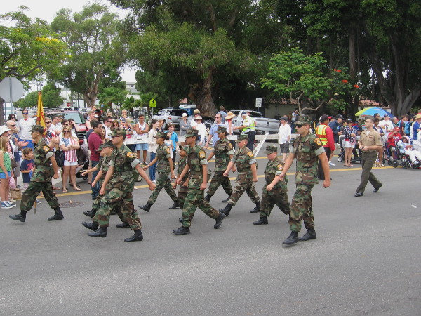 San Diego Young Marines march. A future generation of heroes.