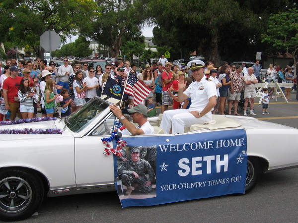 Welcome Home Seth. Your country thanks you.