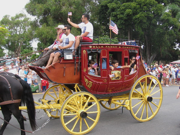 Of course, the big parade includes the Wells Fargo stagecoach.