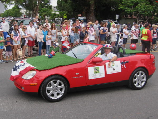 Even the Coronado Lawn Bowling Club was a part of the big Independence Day parade.