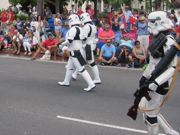 An army of white-armored clones marches down a very crowded Orange Avenue in Coronado. The parade featured a fantastic variety of cool sights.