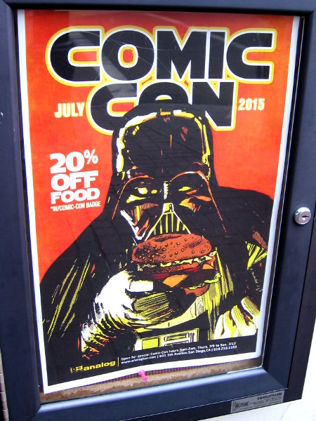 Analog in the Gaslamp Quarter has a 20 percent discount on food for Comic-Con attendees with badge.