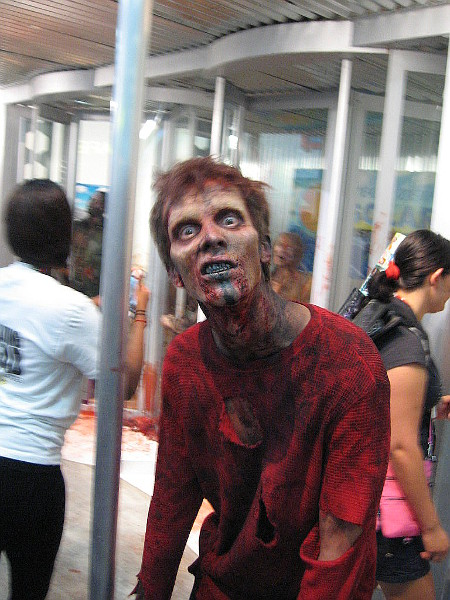 This zombie was getting a little too close for comfort.