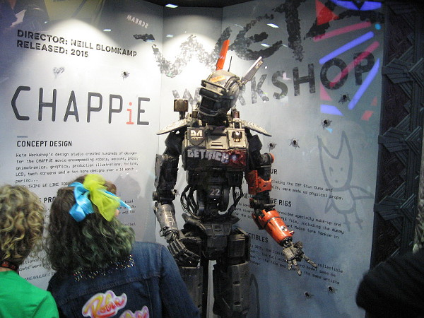 Model of Chappie, from the recent science fiction film.