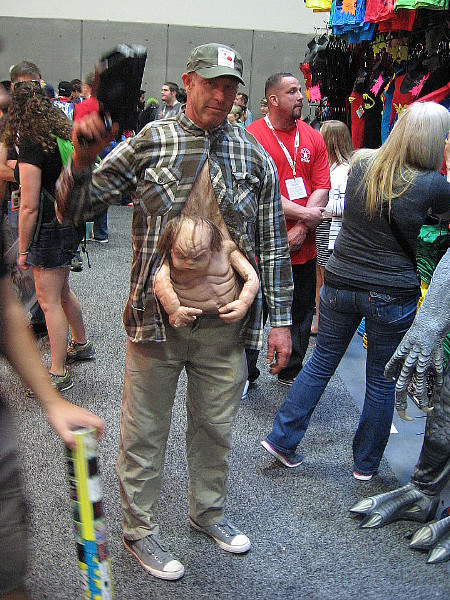 Kuato from Total Recall was making the rounds at Comic-Con, unconcerned about staying hidden, it seems.