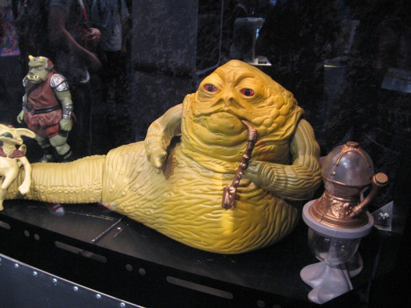 Jabba the Hutt figurine on display at San Diego Comic-Con.