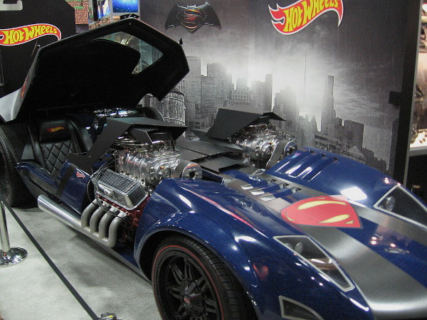 Everyone was snapping photos of this cool Superman Hot Wheels car!