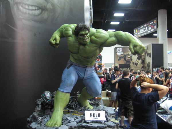 I saw several angry Hulks on the verge of smashing something.