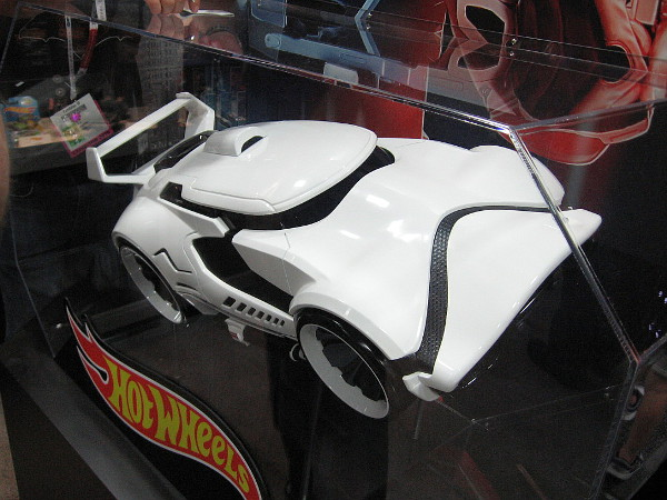 And here's another cool Hot Wheels car modeled after a Star Wars stormtrooper helmet.