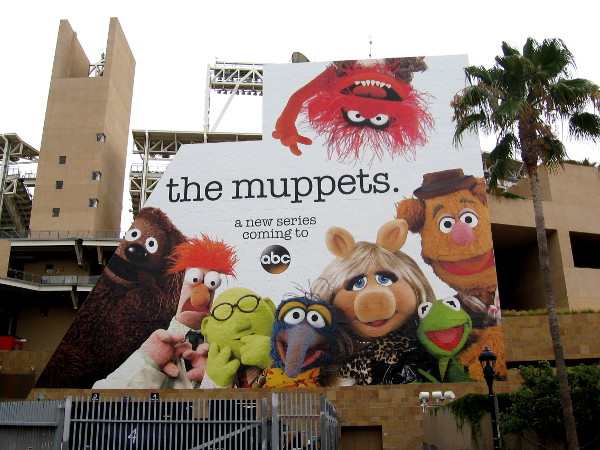 And, finally, I love this huge wrap on Petco Park, facing the convention center. It's The Muppets! Yeah!