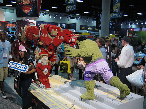 Perhaps the coolest LEGO model is of the epic battle in Avengers II between Hulk and Iron Man in his Hulkbuster armor.