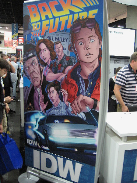 IDW, a comic book publisher right here in San Diego, has their titles on display including Back to the Future.
