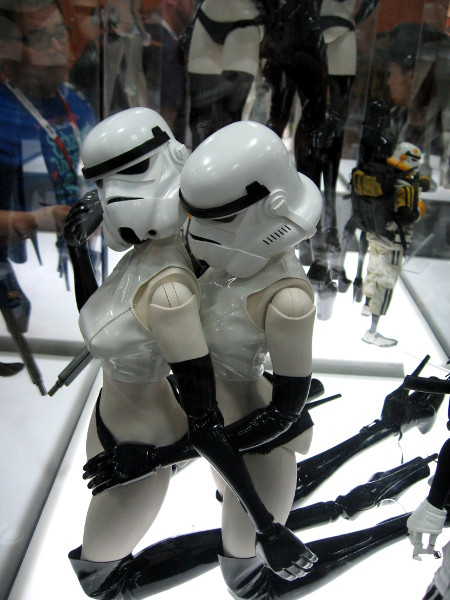 Nerds like sexy stuff, it seems! These female stormtroopers are being a bit risque.