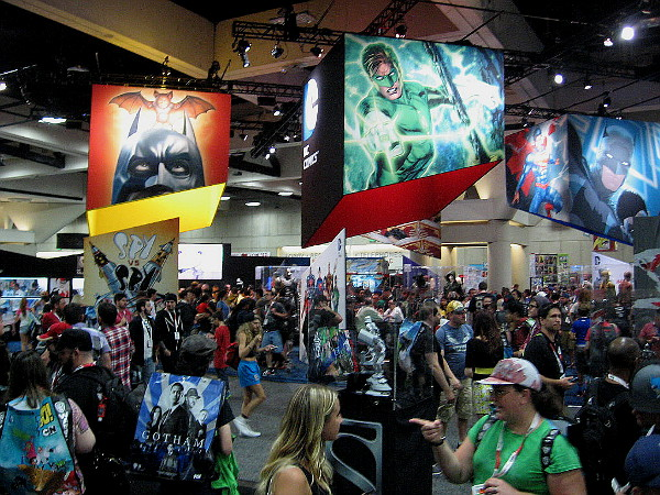 The DC Comics area is similar to last year, but with lots of new stuff.