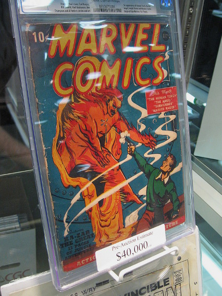 If you have 40 grand to spare, you can grab this issue of Marvel Comics.