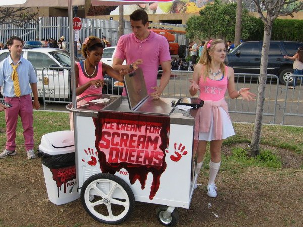 You scream, I scream, the Scream Queens serve ice cream!