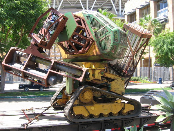 This huge super cool robot is called MegaBot. It arrived near Petco Park for Comic-Con on Wednesday.