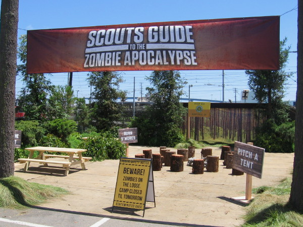Scouts Guide to the Zombie Apocalypse is an upcoming movie, and a fun venue in the Interactive Zone.