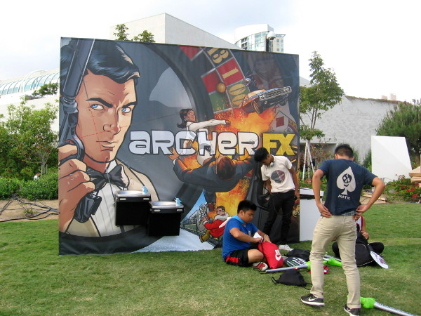 Archer graphic in the Hilton Bayfront Park.