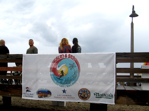 The annual Sun and Sea Festival in IB features food, music, fun, people-watching and sand castles galore! This banner is hung on the pier above the beach.