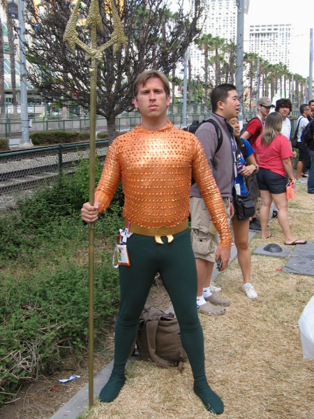 Aquaman seems to be out of his element during the Southern California drought.