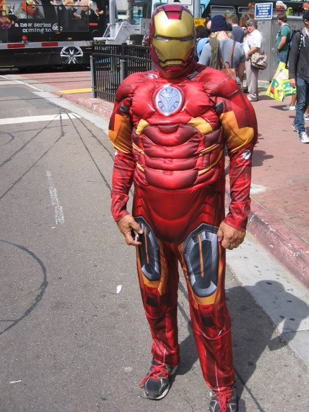 A simple Iron Man armor costume, but effective.