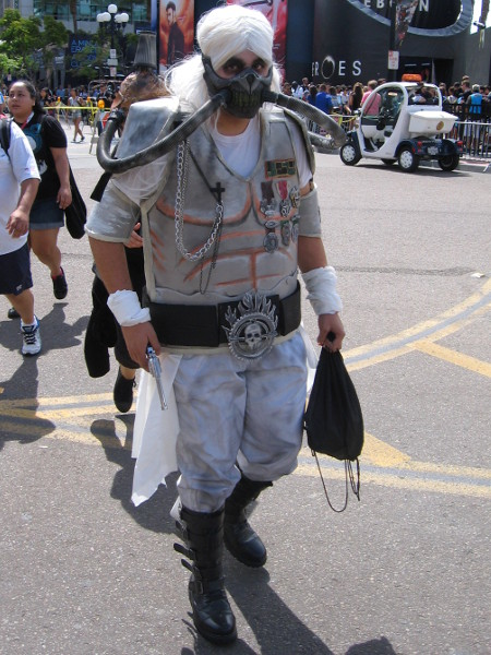 Immortan Joe cosplay from Mad Max Fury Road.