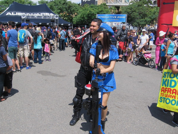 Lots of lines, food, games and cosplay at the Comic-Con Interactive Zone in the Lexus Lot next to Petco Park.
