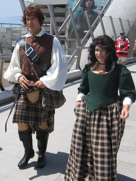 Perhaps this nice couple came from Scotland. Or maybe they're promoting Outlander.