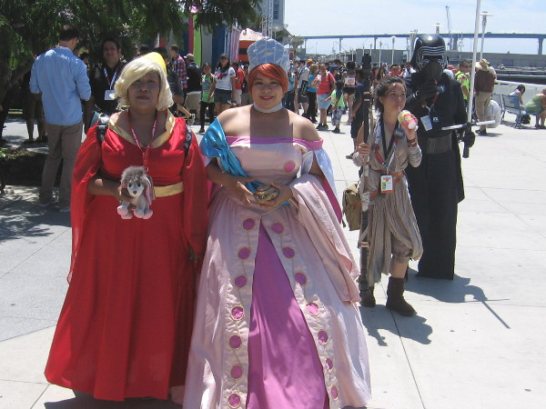Lots of fun cosplay action behind the San Diego Convention Center during 2015 Comic-Con.