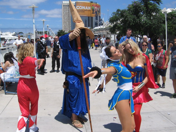 The Black Mage of Final Fantasy is joined by frolicking super heroines including Supergirl.