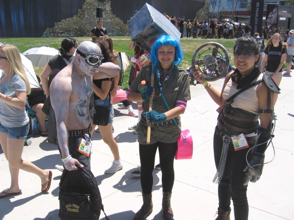 Okay, I do know that these awesome people are cosplaying Mad Max movie characters. Because they told me!
