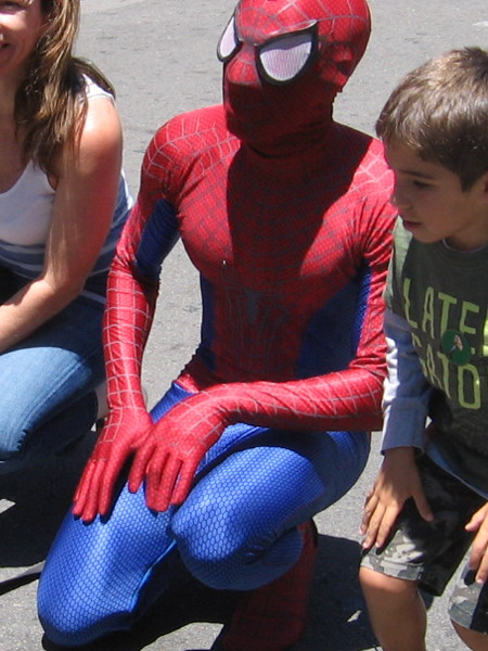 Spidey is always a big favorite when it comes time for kids to pose at San Diego Comic-Con.
