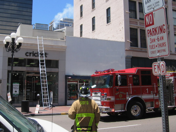 A kitchen grease fire broke out in a restaurant during Comic-Con on the 900 block of Fourth Avenue. Reality intervenes!