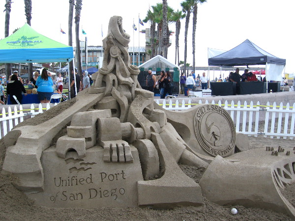 The Port of San Diego is a sponsor of the yearly festival, home of the famous Imperial Beach Sandcastle Competition. This sculpture was created by sand master Kirk Rademaker.