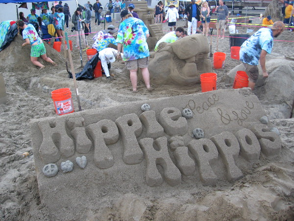 Peace and Love. Hippie Hippos are cool, groovy and happening!